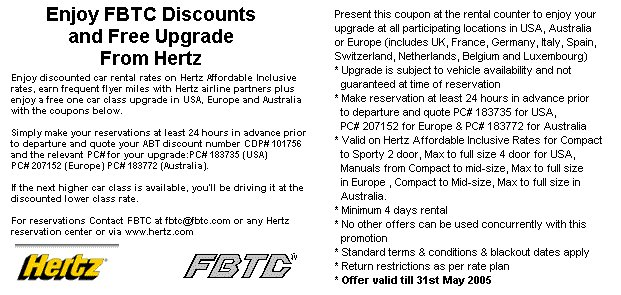 Discount car rental from Hertz